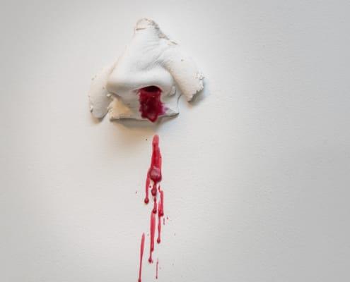 kunst - Ingrid Slaa - beeld - neus - gips