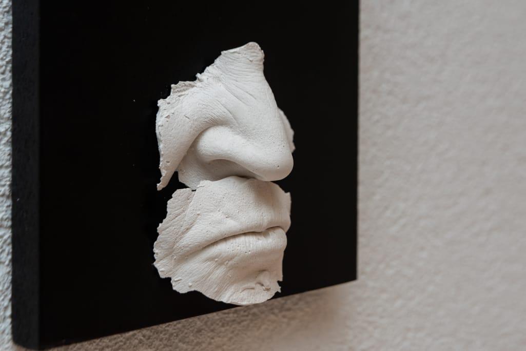 kunst - Ingrid Slaa - beeld - gezicht - gips