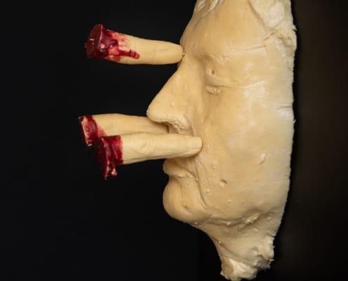 kunst - Ingrid Slaa - beeld - vingers - purschuim