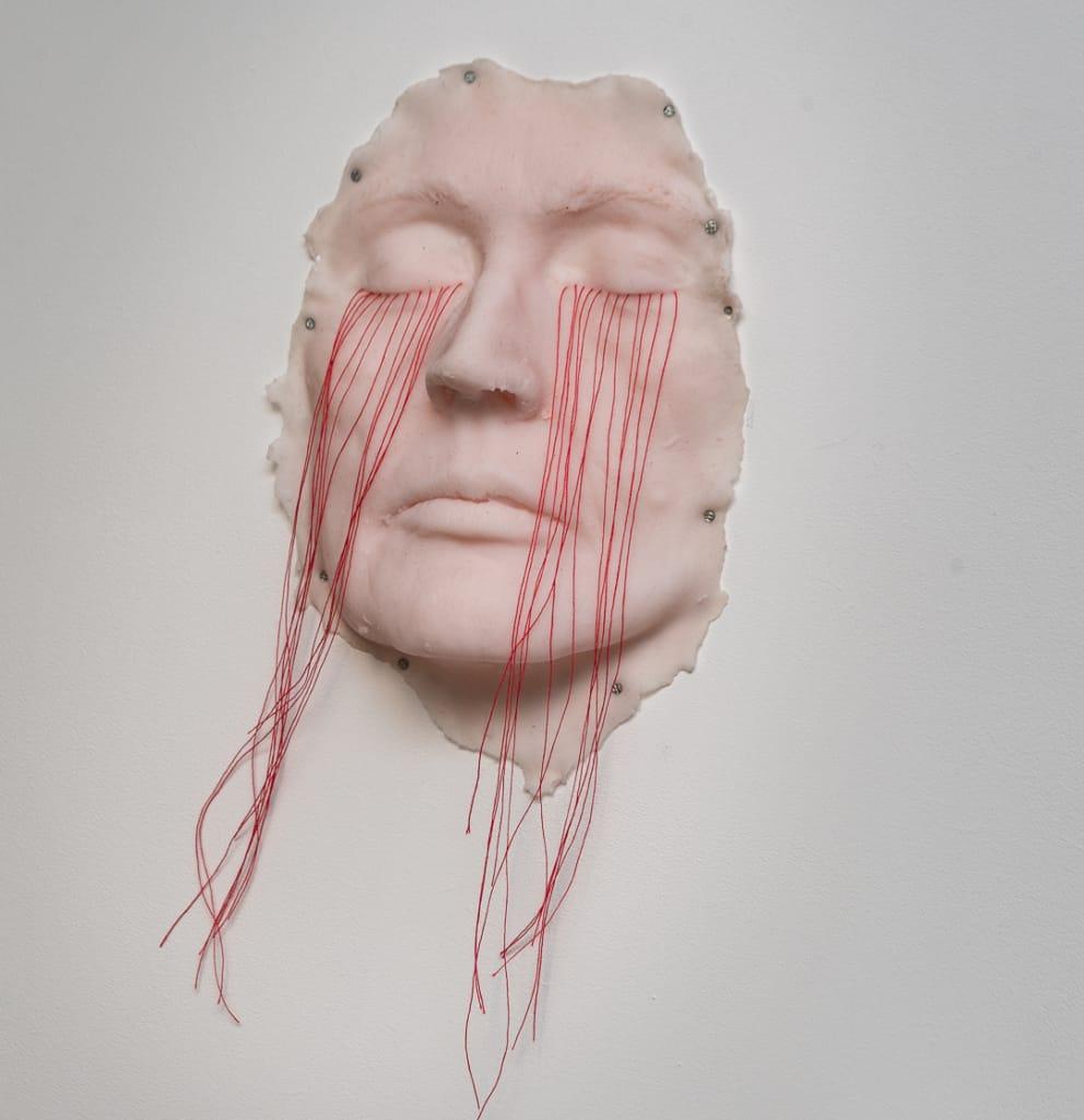 kunst - Ingrid Slaa - beeld - gezicht - siliconen