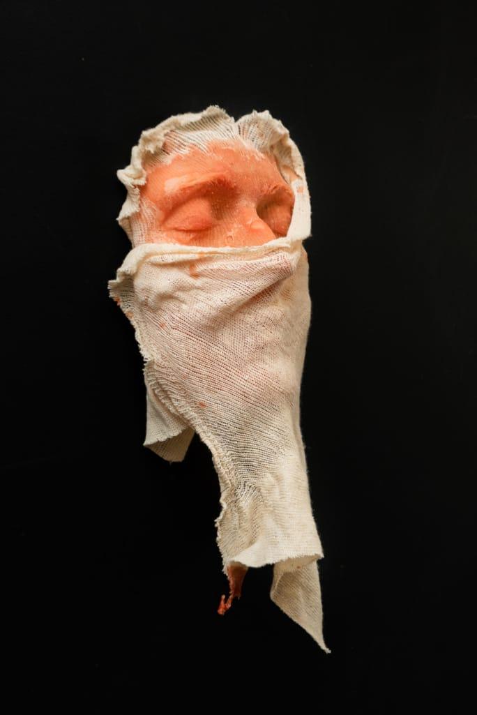 kunst - Ingrid Slaa - beeld - gezicht - wax